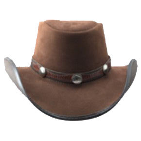Plainsman Brown Leather Hat