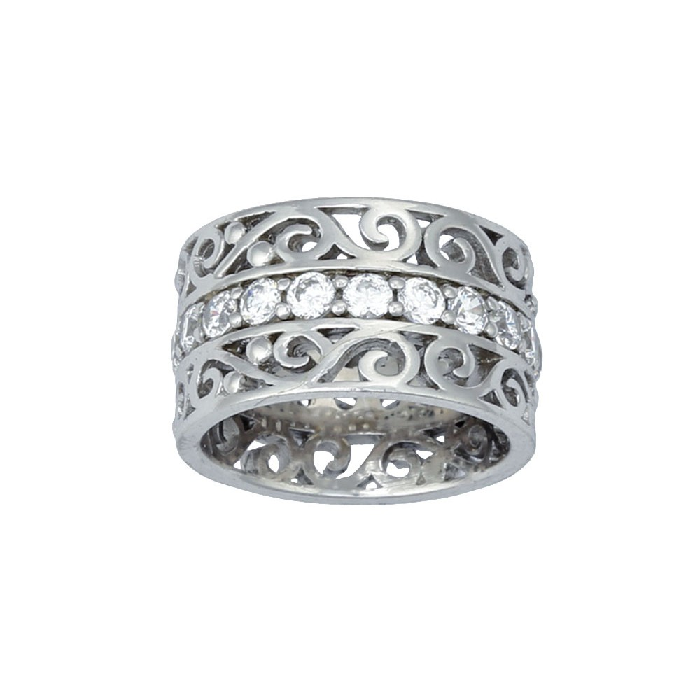 Wide Filigree Band Ring (RG47)