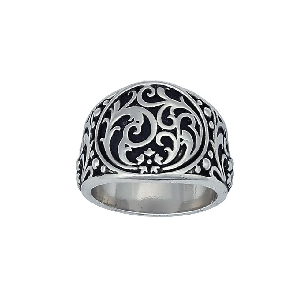 Western Deco Silver Filigree Ring (RG50)
