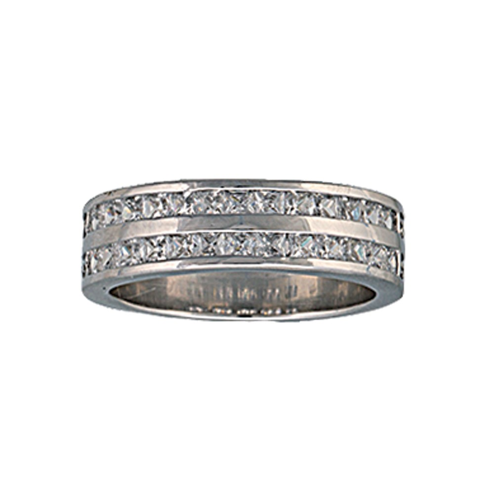 Two Trails Channel Set Band Ring (RG63CZ)