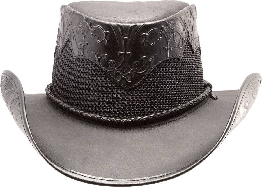 Sierra Midnight Leather Hat