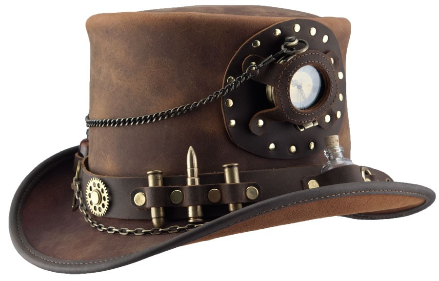 Head N' Home Steampunk Time Port Brown