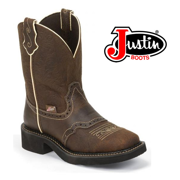 Women's Justin Gypsy Boots Brown Flower Embossed L9618
