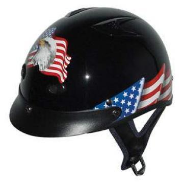 Helmets Inc. Vented Eagle Half Helmets