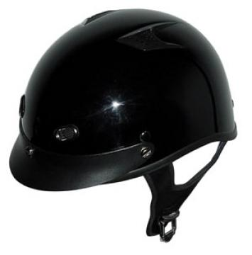 Vented Gloss Black Half Helmet
