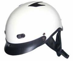 Vented Pearl White Half Helmet