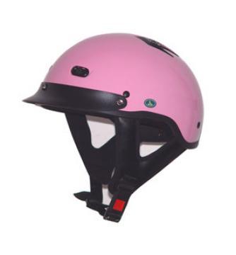 Vented Pink Half Helmet