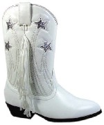 Smoky Boots TX Star White Cowgirl Childrens Boots