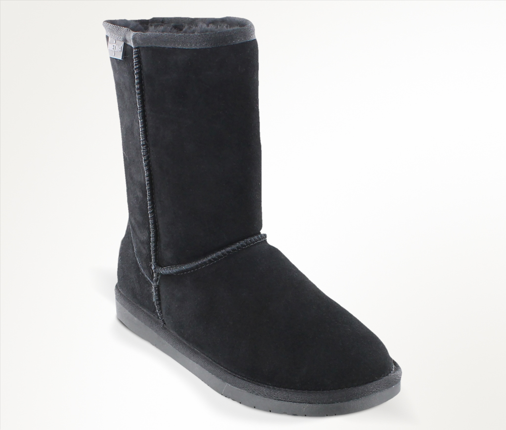 Womens Olympia Black Suede Boot