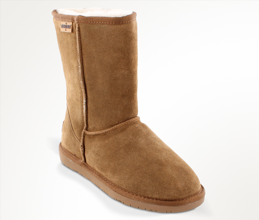 Womens Olympia Golden Tan Suede Boot
