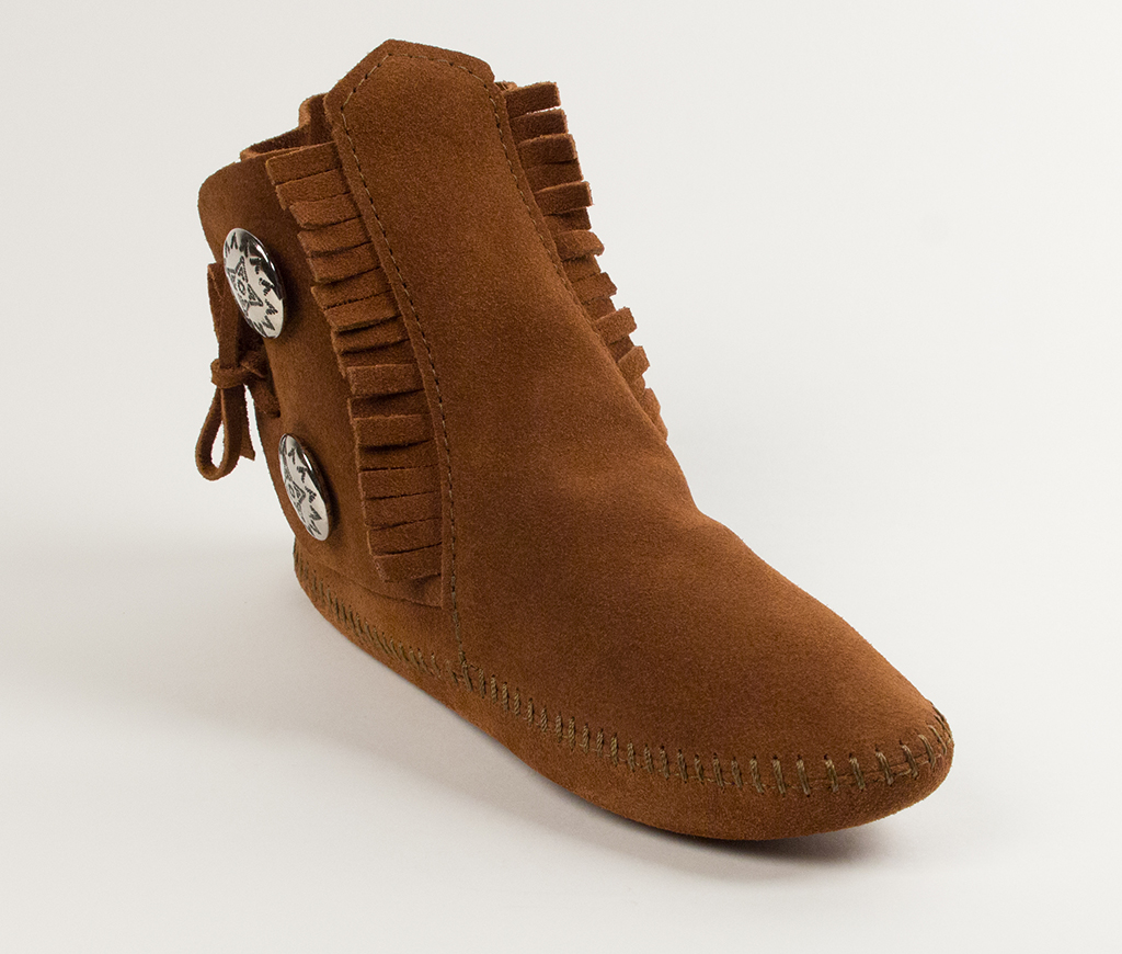 Womens Two Button Boot Brown
