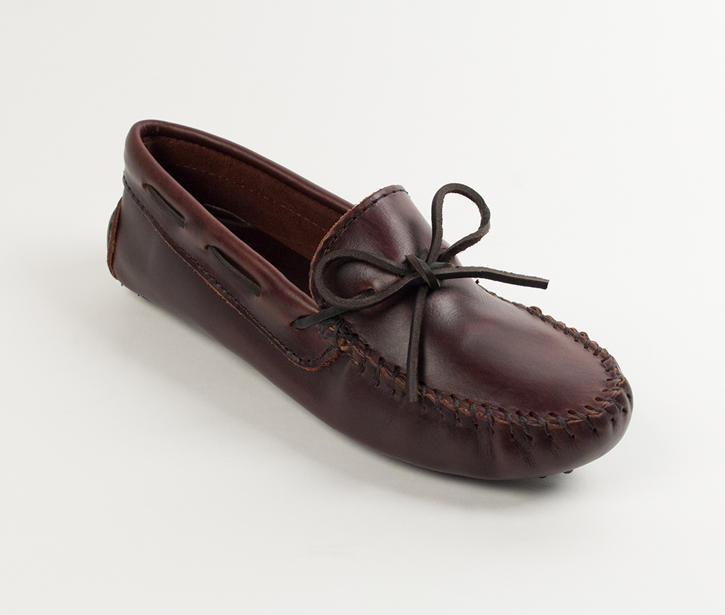 Women's Dark Brown Lariat Straight Plug Driving Moccasin