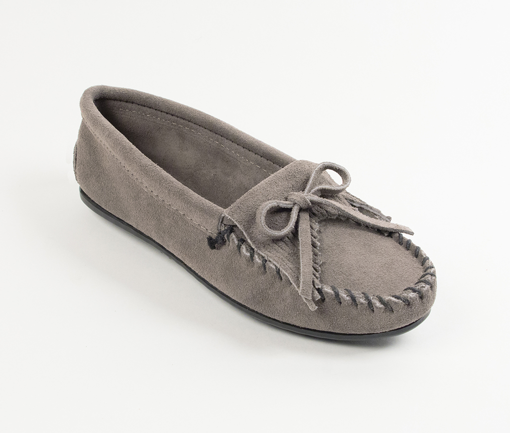 Kilty Suede Grey Moccasin