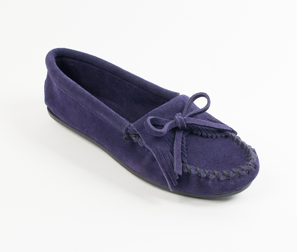 Kilty Suede Navy Moccasin
