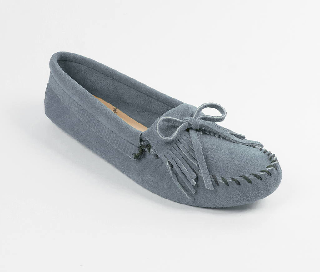 Kilty Suede Moc Storm Blue Softsole