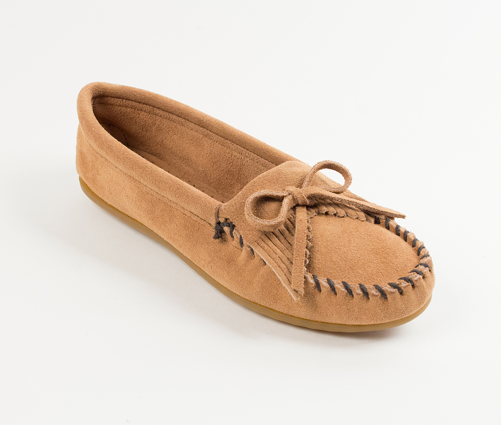 Kilty Suede Taupe Moccasin