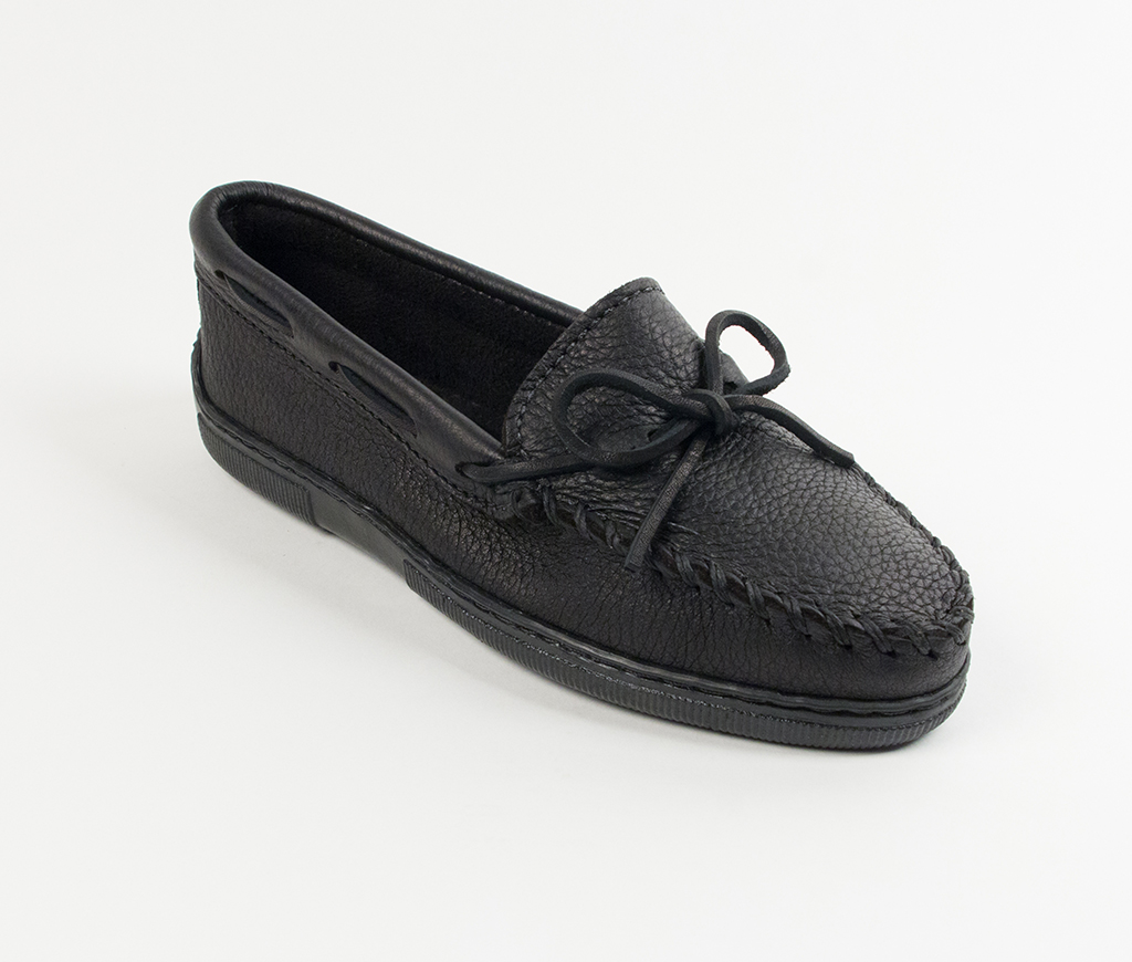Womens Minnetonka Black Moosehide Classic Moccasin