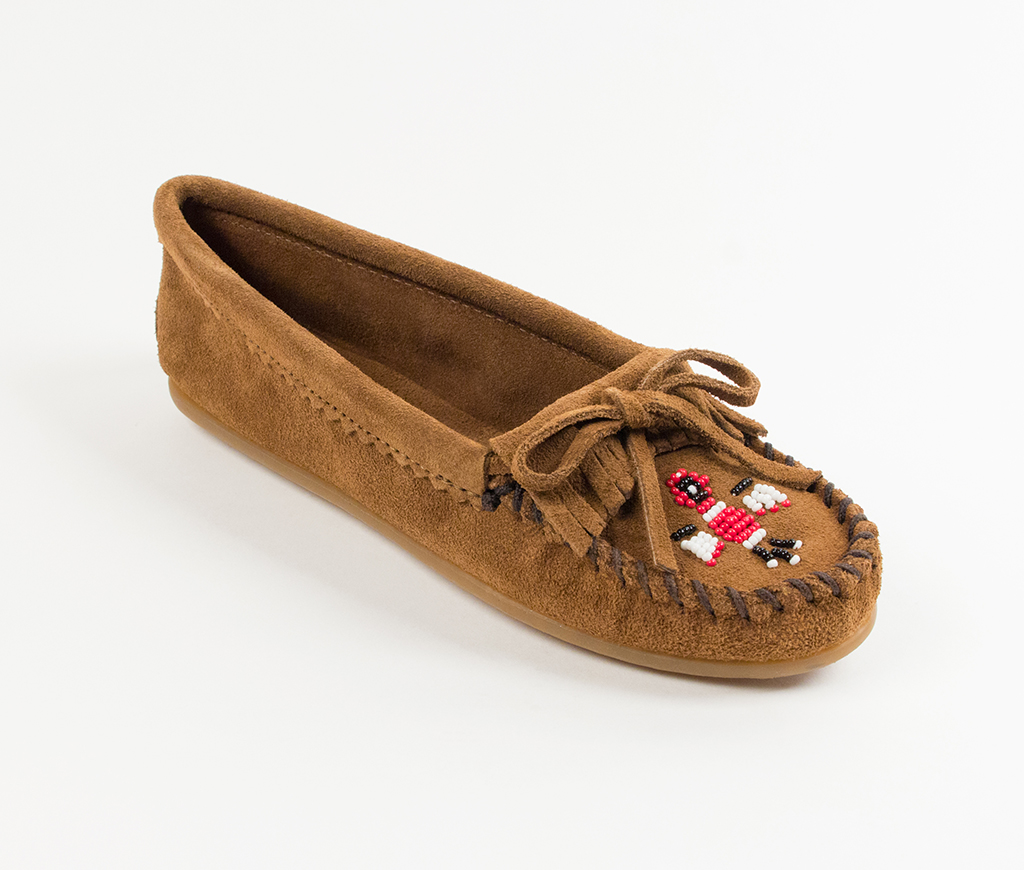 Womens Minnetonka Thunderbird II Dusty Brown Suede