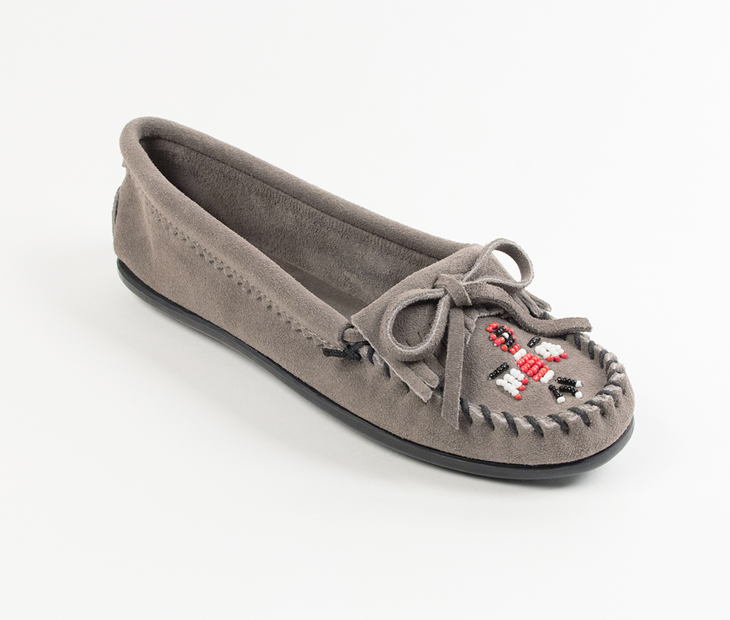 Womens Minnetonka Thunderbird II Grey Suede