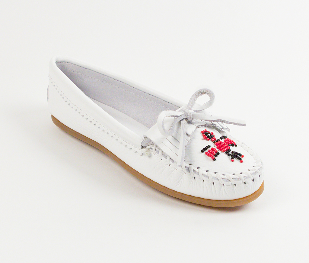 Womens Minnetonka Thunderbird II White Smooth
