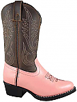 Smoky Boots Childrens Leather Rosewood Pink/ Brown
