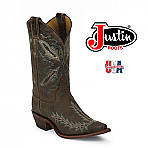 Womens Justin Bent Rail Boots DISTRESSED CHOCOLATE PUMA BRL106