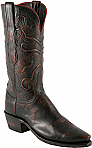 Womens Lucchese 1883 Black Cherry Goat Boots