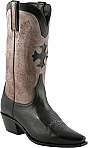 Charlie 1 Horse Black Boots with Inlayed Cross