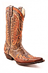 Mens Stetson Eagle Overlay Boot