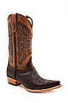 Mens Stetson Hand Tooled Tan Boot
