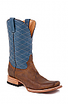 Mens Stetson Blue and Brown Boots