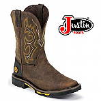 Men's Justin Work boots Hybred Barnwood WK4624