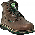 "Womens John Deere 6"" Steel Toe Internal Met Guard Lace-Up"