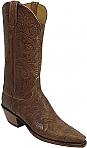 Lucchese Classic Hand Tooled Floral Mahogany Stained Boots