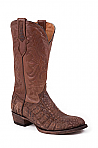 Mens Stetson Cafe Nubuck Caiman Boot
