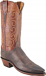 Womens Lucchese 1883 Chocolate/Tan Burnished Mad Dog Goat Boots