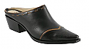 Charlie 1 Horse Black Mule Slides with Wingtip