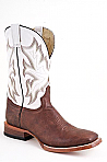 Mens Stetson Chocolate/White Boot