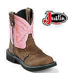 Women's Justin Gypsy Bay Apache Pink Cow Cowboy Boots L9901