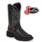 Women's Justin Gypsy Boots BLACK PEARL PRINT COWHIDE L9993