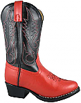 Smoky Boots Childrens Leather Rosewood Red/ Black