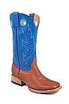 Mens Stetson Blue/Brown Square Toe Boot