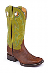Mens Stetson Lime Green Square Toe Boot