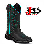 Women's Justin Gypsy Boots BLACK CRAZY HORSE  L2902