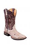 Mens Stetson Distressd Tan Python Boots