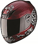 Scorpion EXO-400 Rapture Motorcycle Helmet Red