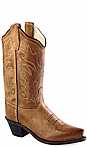 Old West Tan Cowboy Boot