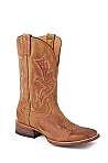 Mens Stetson Square Toe Tan Boot