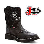Women's Justin Gypsy Boots BLACK DEERCOW L9977