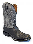 Mens Stetson Dark Olive Full Quill Boot